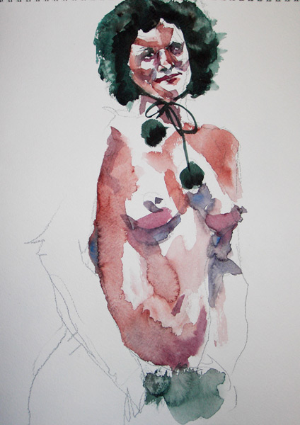 Female Nude With Furry Hat