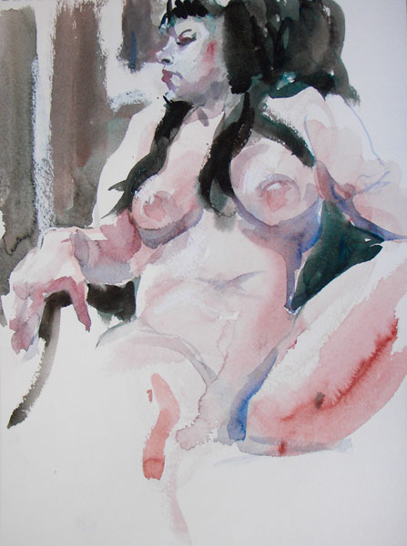 Amber Ray As A Geisha, Seated