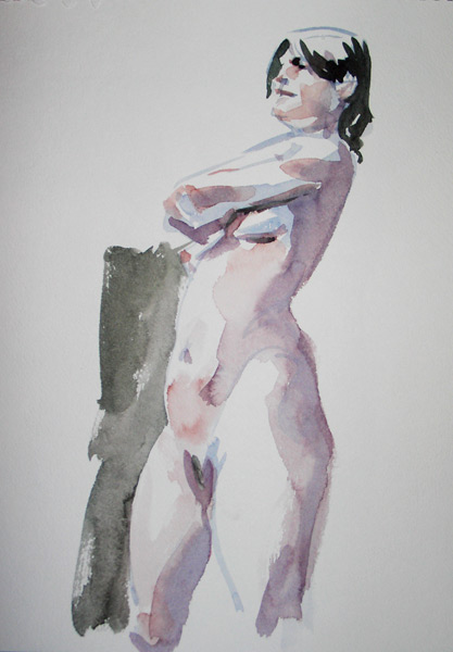 Standing Female Nude With Arms Crossed