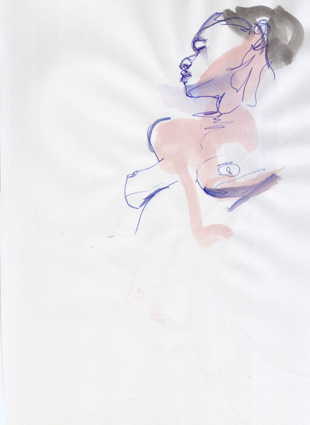 Female Nude Torso, Looking Over Her Right Shoulde