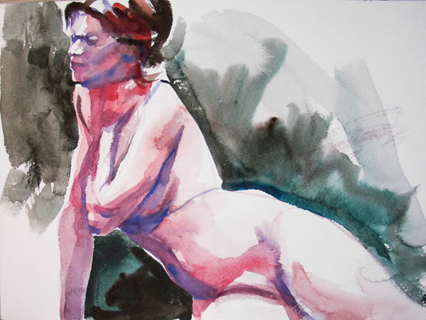 Seated Nude Leaning On Her Right Arm