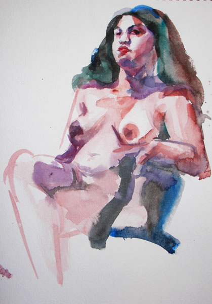 Female Nude, Seated In A Chair, With Legs Crossed