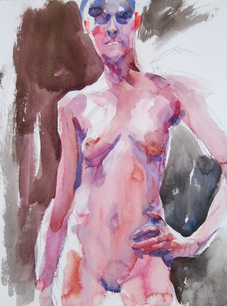 Female Nude Standing In Contrapposto, With Left Arm On Her Hip