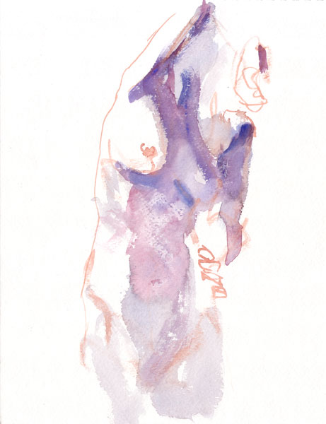 Standing Female Nude, With Left Arm On Her Hip And Right Arm Bent Over Her Head