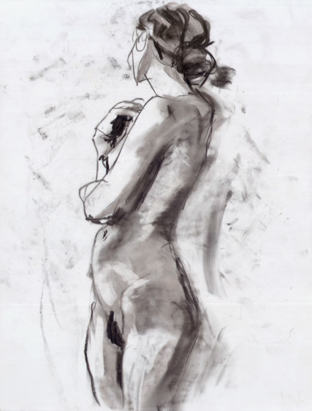 Standing Female Nude, In Profile, With Hips Turning Toward the Front and Torso Turning Backward