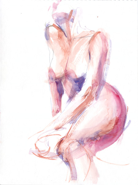 Female Nude, Seated In Semi-Profile, Leaning On Her Right Arm, With Left Arm Draped Across Her Legs