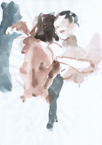 Roger And Female Nude Couple, Dancing