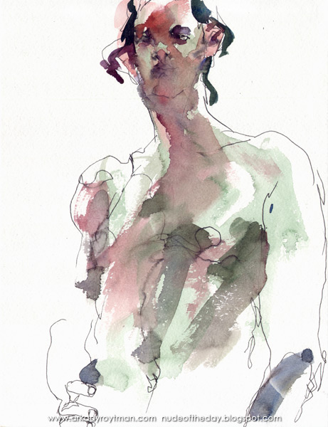 Standing Male Nude, His Right Hand On His Hip