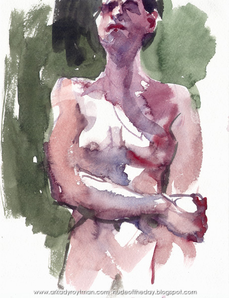 Standing Female Nude, Her Right Hand Holding Her Left Arm At The Elbow