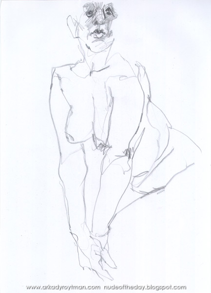Female Nude, Standing In A Marilyn Monroe Pose