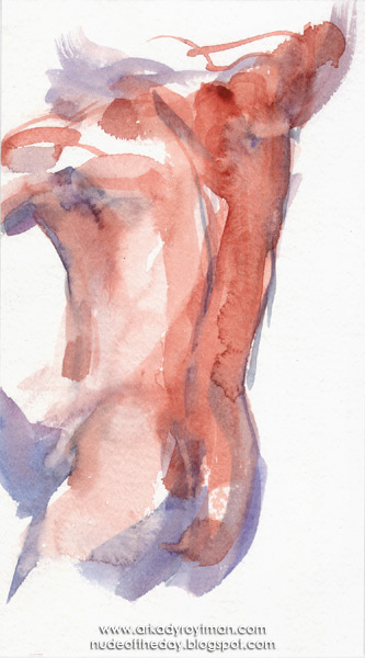 Study Of A Male Nude (Jim), Standing In Reverse, With His Left Hand On His Hip