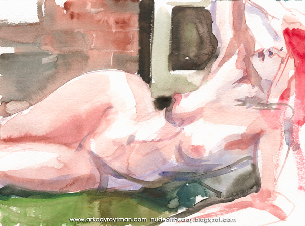 Rebecca, Reclining On Her Left Side, Her Head Arched Back In Sorrow