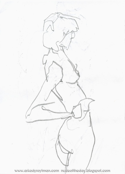 Kika, Standing In Profile And Reverse, Her Right Hand On Her Hip