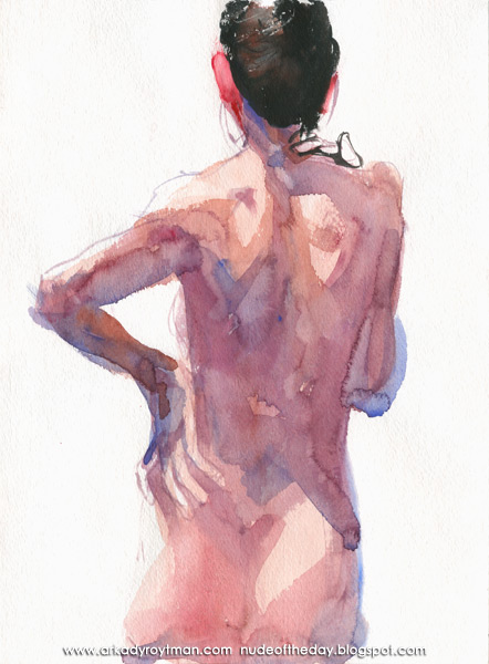 Female Nude, Standing In Reverse, Her Left Hand On Her Hip