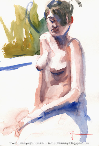 Female Nude, Seated In Semi-Profile, Her Left Arm In Her Lap