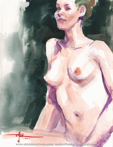 Female Nude, Seated In Profile, Her Left Arm In Her Lap