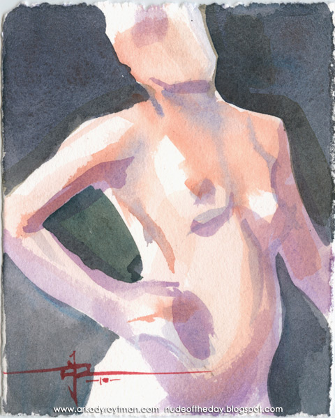 Female Nude, Standing In Semi-Profile, Her Right Hand On Her Hip