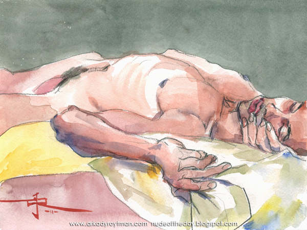 Jonathan, Reclining, His Head Resting In His Right Hand