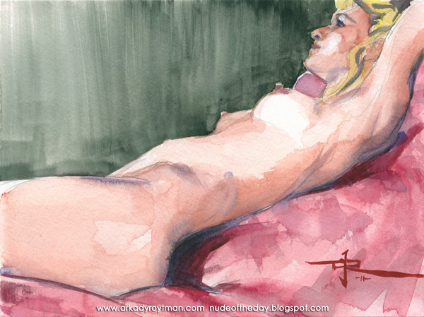 Joanna, Reclining On A Rose-Colored Cloth