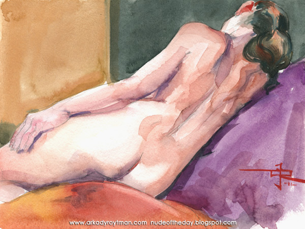 Kayla, Reclining On Her Right Side, In Reverse