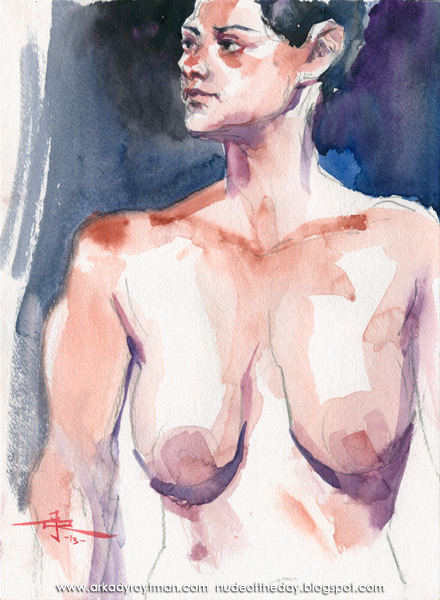 Female Nude, Looking Skeptically Over Her Right Shoulder