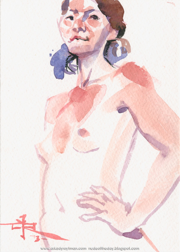 Female Nude, Standing In Semi-Profile, Her Left Hand On Her Hip