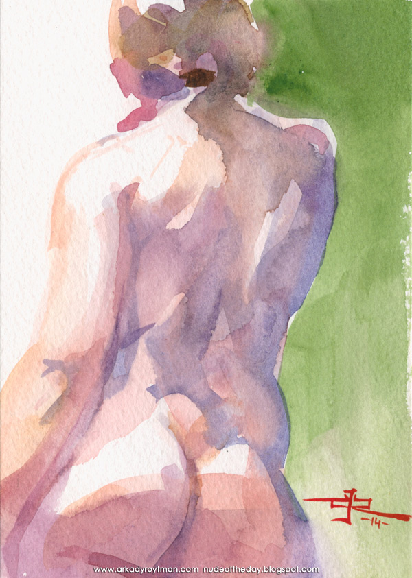 Female Nude, Standing In Reverse