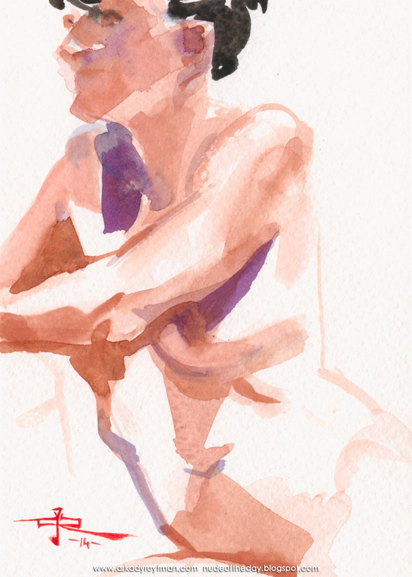 Female Nude, Seated, Looking Rightward
