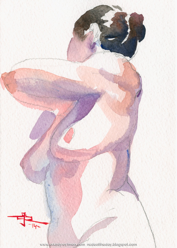 Female Nude, Seated In Semi-Profile, Looking Away