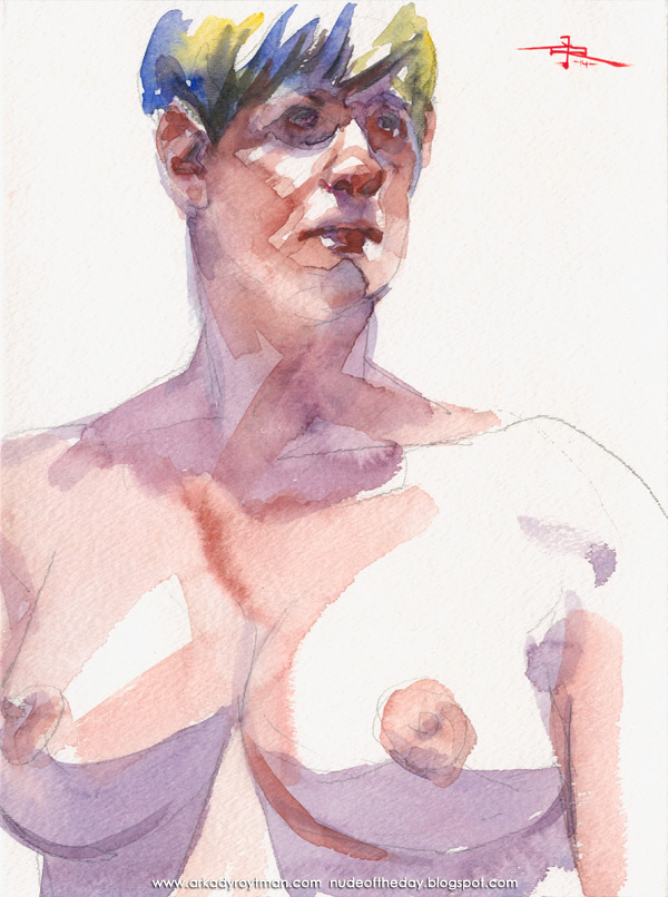 Bust And Torso Portrait Of A Female Nude