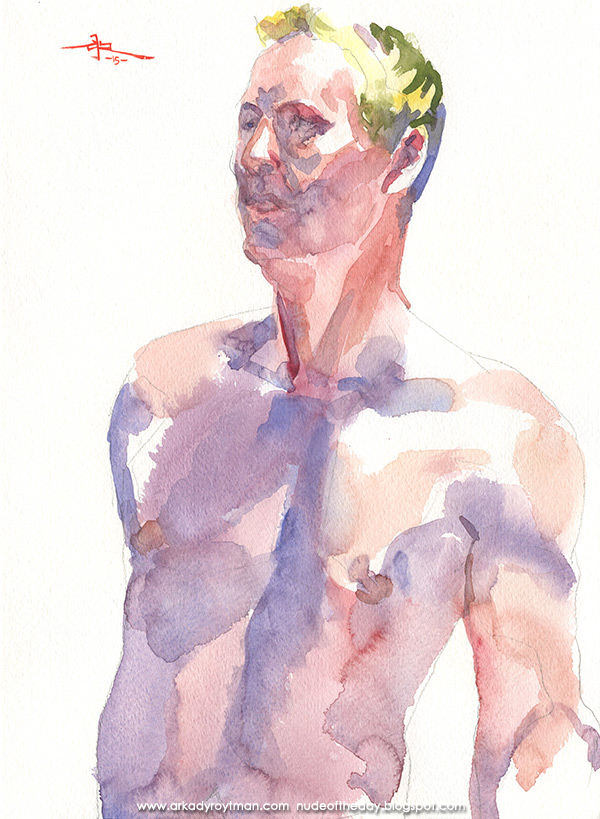 Male Nude, Standing In Semi-Profile