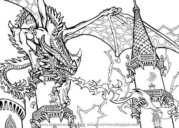 Build A Poster Knights and Dragons Dragon