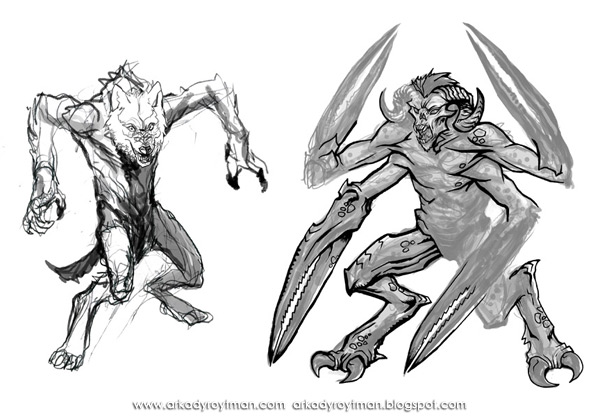 Creatures of the Night Werewolf and Demon