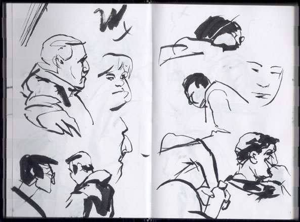 NYC's Subway Sketch Group - (feb. 2006 Sub